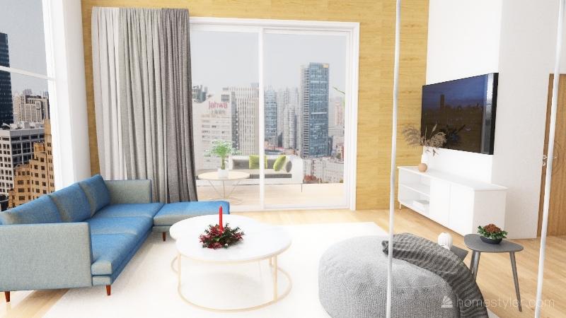 A loft with Christmas mood Interior Design Render
