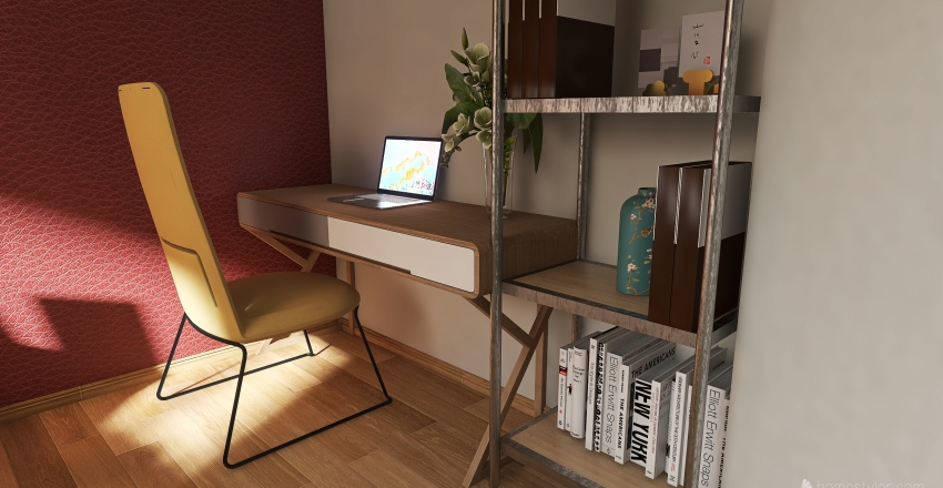 Automn in apartment Interior Design Render