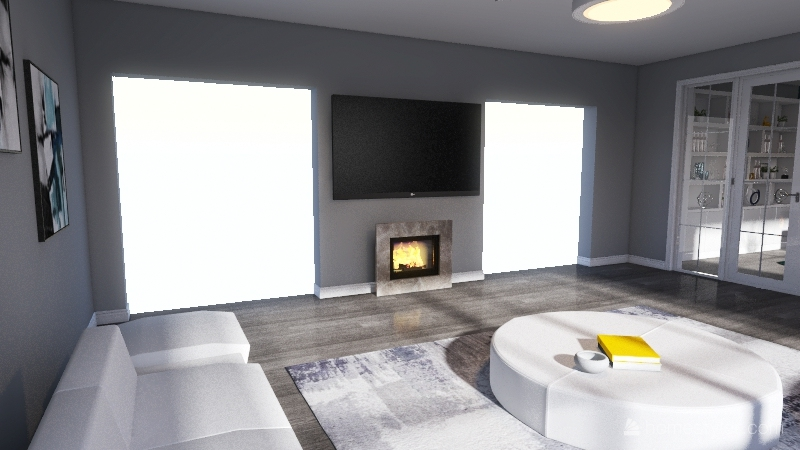 Living Room Design Interior Design Render