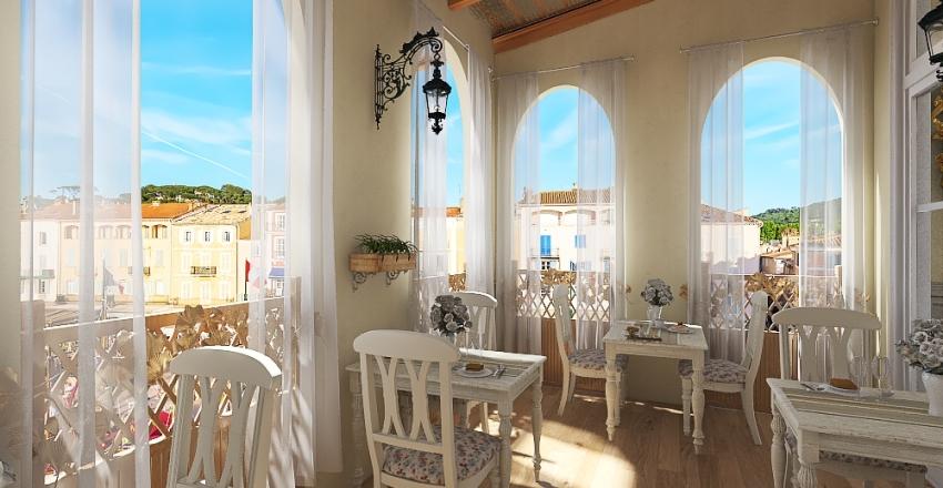 #HSDA2020Commercial -Le Restaurant de Paris - French Country Style Interior Design Render