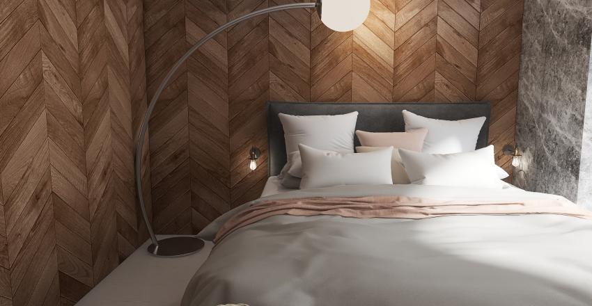 Cozy & Simple Master Bedroom Interior Design Render