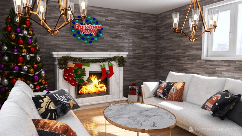 Christmas livingroom for  contest Interior Design Render