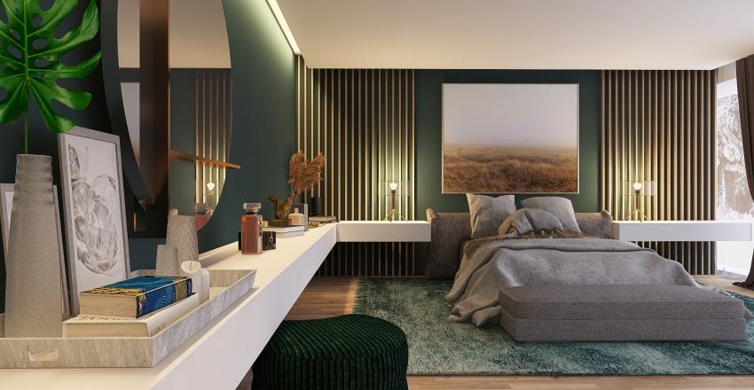 Concrete Mountain House Interior Design Render