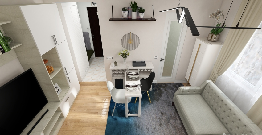 Apartament Cluj 32mp Interior Design Render