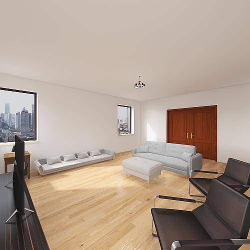 Living Room Project Interior Design Render