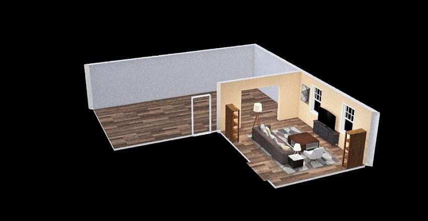 Kitchen & Dining Room Interior Design Render