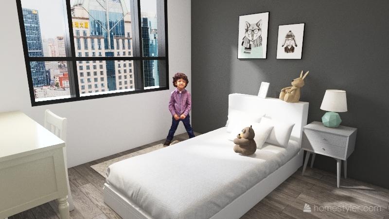 Soft apartment Interior Design Render