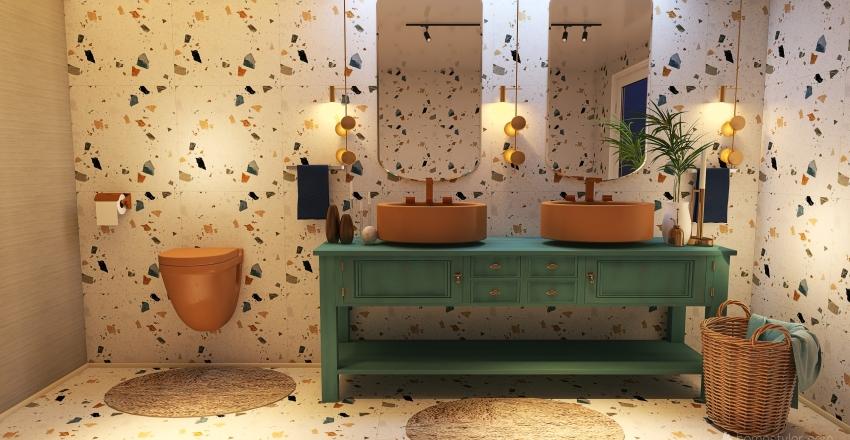 მშვიდი  და  მხიარული Interior Design Render