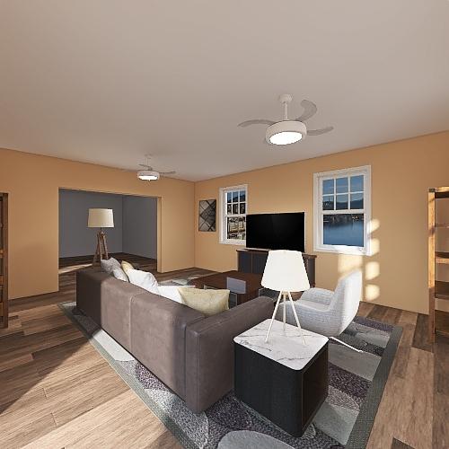 Living Room v3 Interior Design Render
