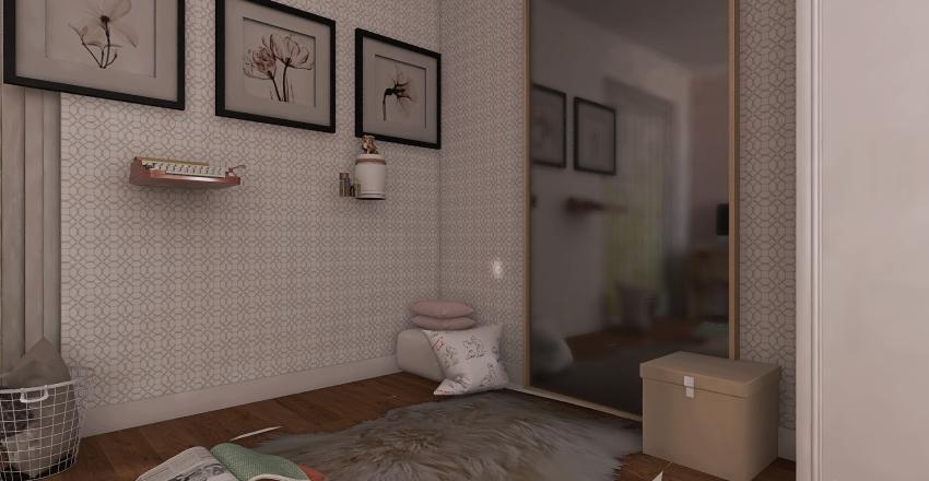 Classic girl bedroom Interior Design Render