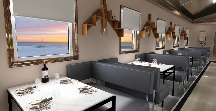 express train restaurant Interior Design Render