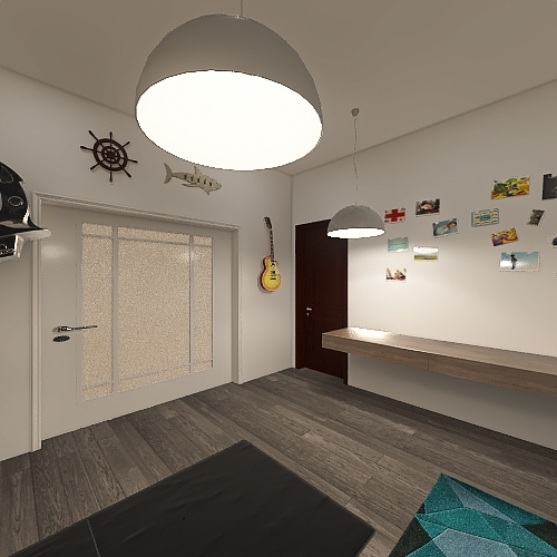 8 Person House Interior Design Render