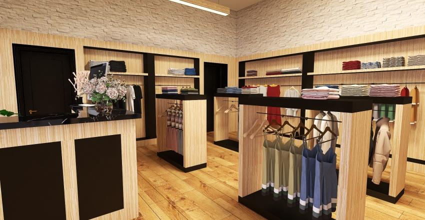 Cloth Store Interior Design Render