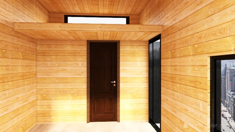 Гостевой дом с камином Interior Design Render