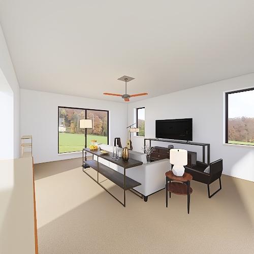 Drafting living room Interior Design Render