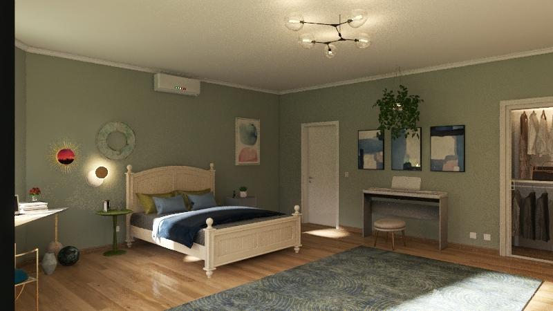 cozy bedroom Interior Design Render