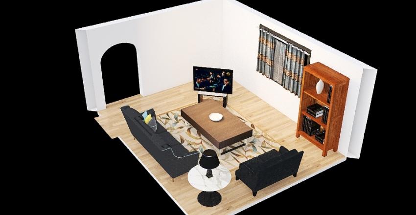Living Room BW Interior Design Render