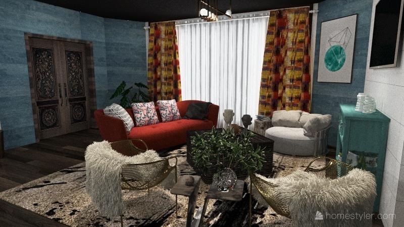 Casa familiar.  Interior Design Render