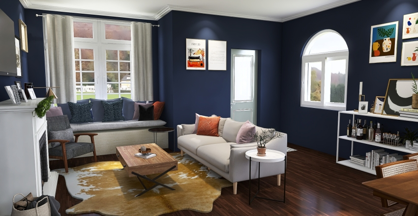 cottage Interior Design Render