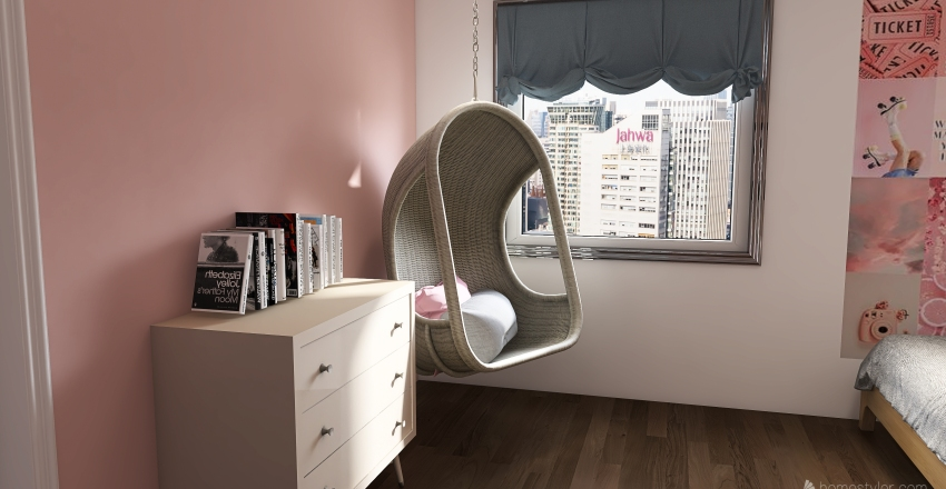 Pink Trendy Room for a Teen Interior Design Render