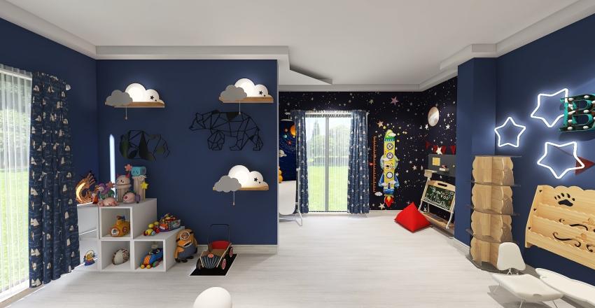 kids room  Interior Design Render