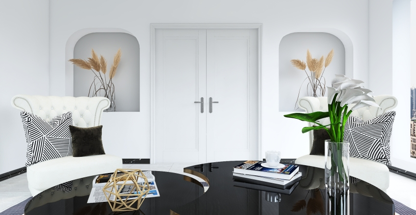French space Interior Design Render