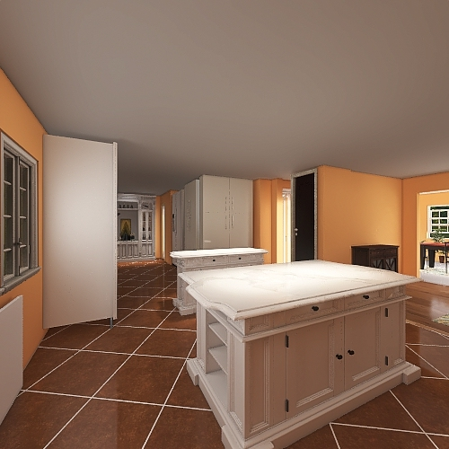 CLEAN3 Kitchen update powder room Interior Design Render