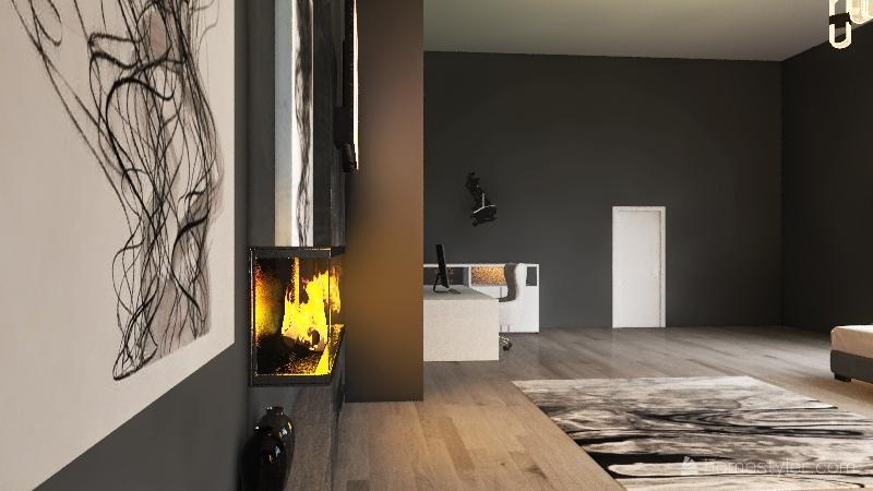 Winter in New York Interior Design Render