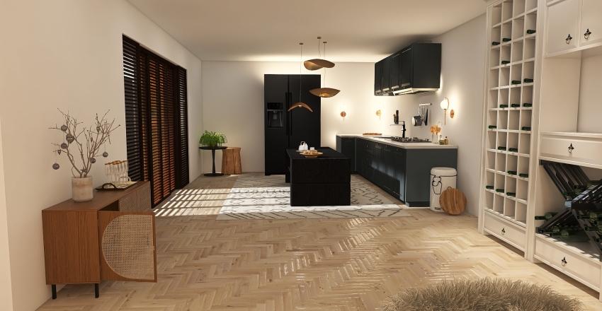 fresh tropical Interior Design Render