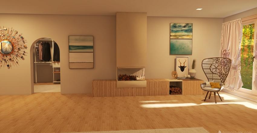 #HSDA2020Residential Neutral tones Interior Design Render