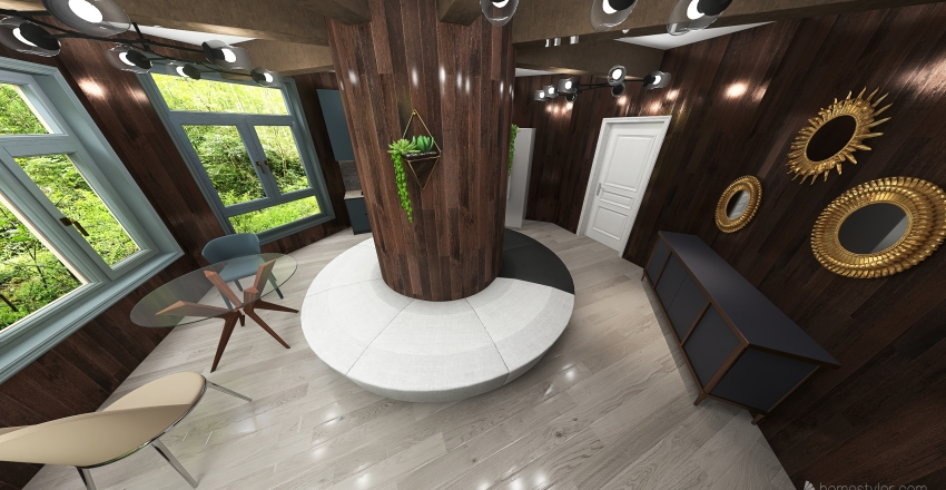 Tree House Kitchen Interior Design Render