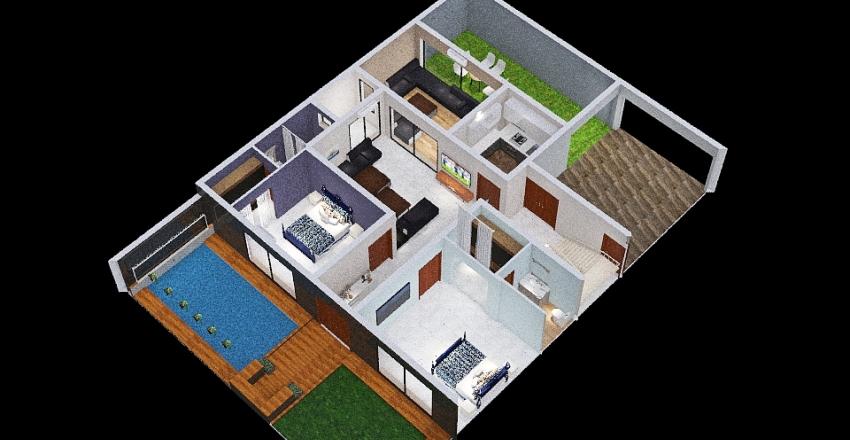 156 Ground Floor - 3 Interior Design Render