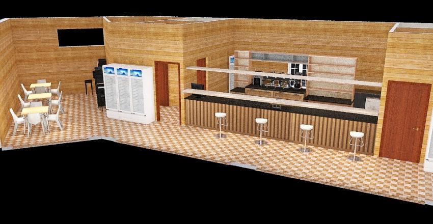 Bar Paradiso Banco Centrale Interior Design Render