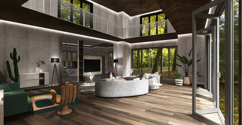 14-LivingRoom Interior Design Render