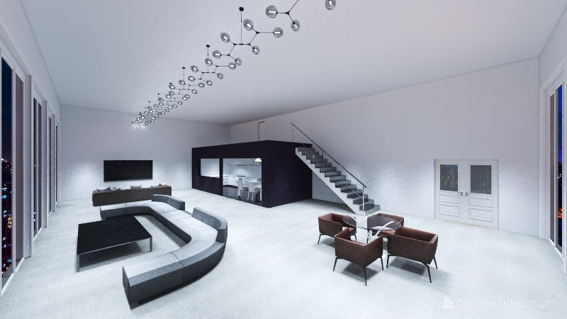 NYC penthouse Interior Design Render