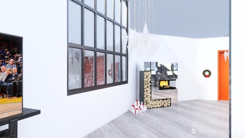Winter Gathering Hall Interior Design Render
