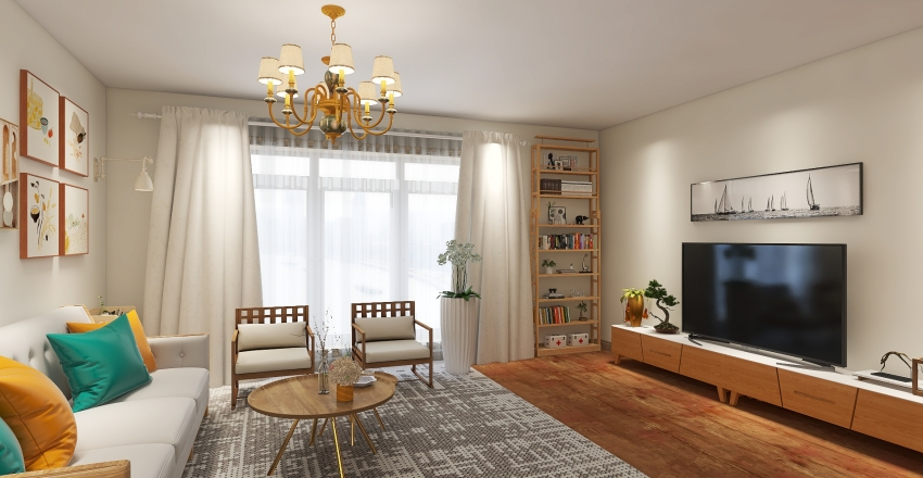 Scandy Interior Design Render