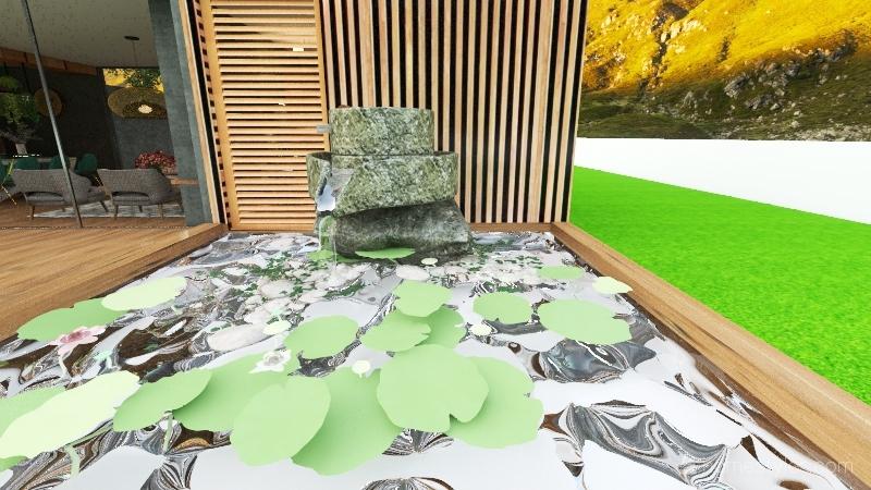 Eco-friendly house Interior Design Render