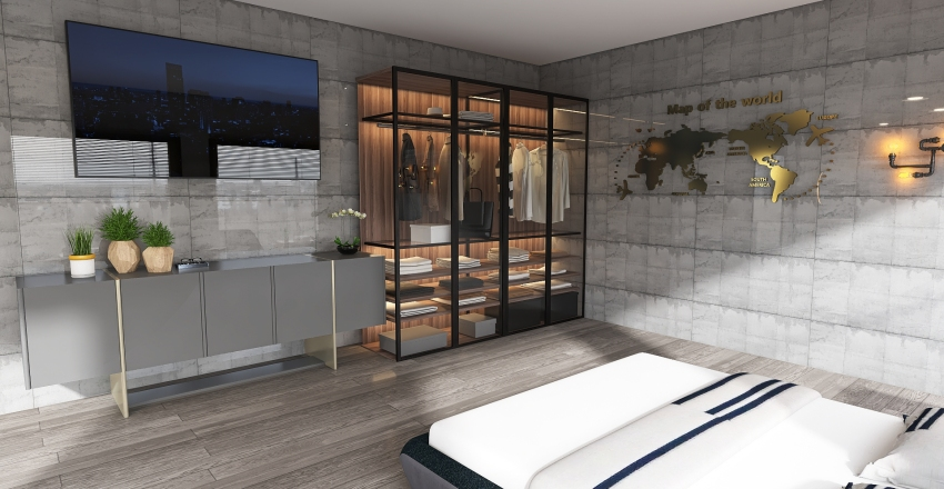 Project of modern apartment this 2 floors Interior Design Render