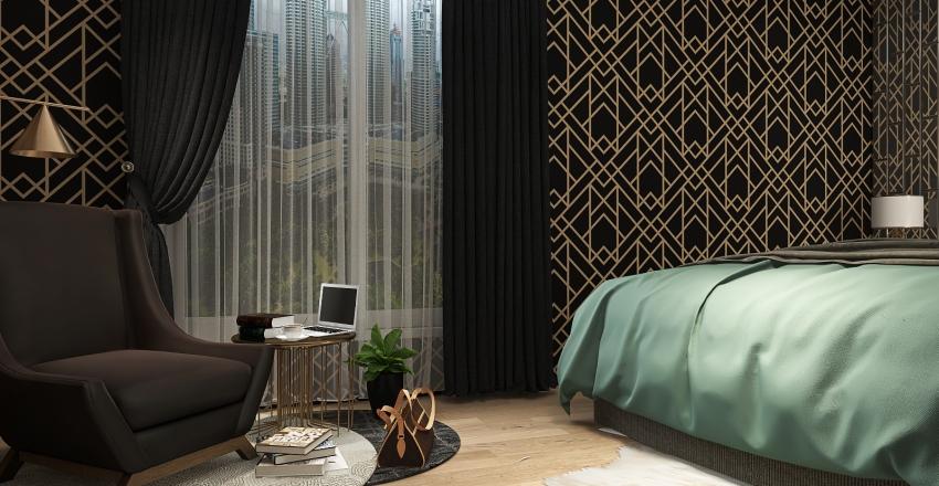 bed room Interior Design Render