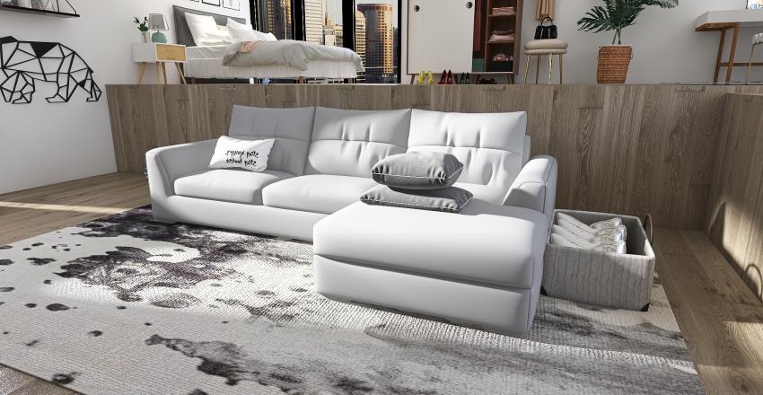 Elevated bedroom Interior Design Render