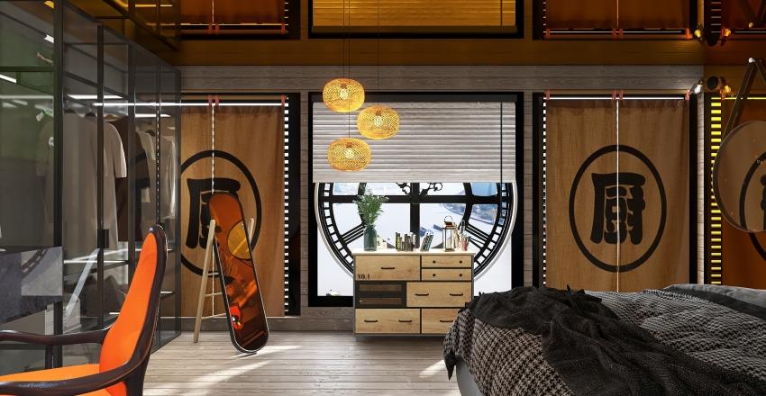 Habitacion industrial. Interior Design Render