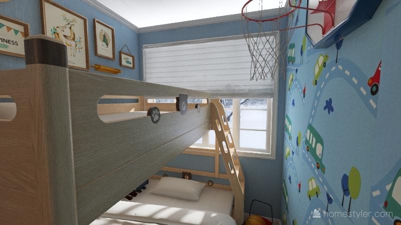 Farm Country Small House Interior Design Render