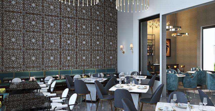 RESTAURANTE MIRASUR Interior Design Render