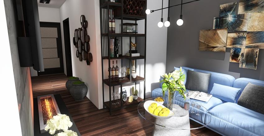 Mieszkanie 53m2 Piła Interior Design Render