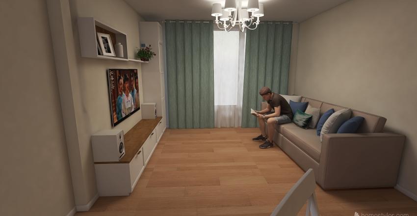 Linivng Room-2 Interior Design Render