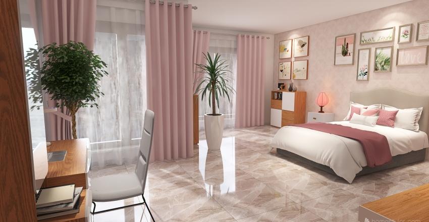 Contrast Pink Interior Design Render