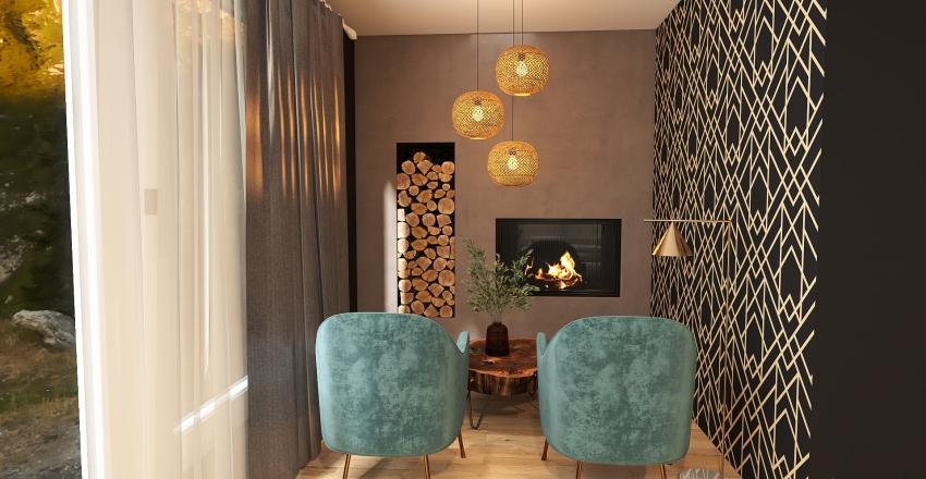 Art Deco Master Bedroom Interior Design Render