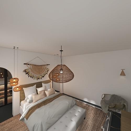 comfortable modern  bed room  Interior Design Render