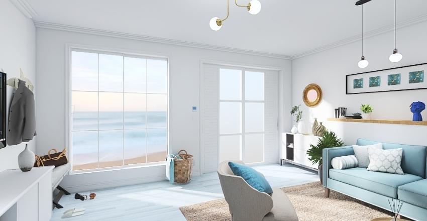 Bungalow on the sea Interior Design Render